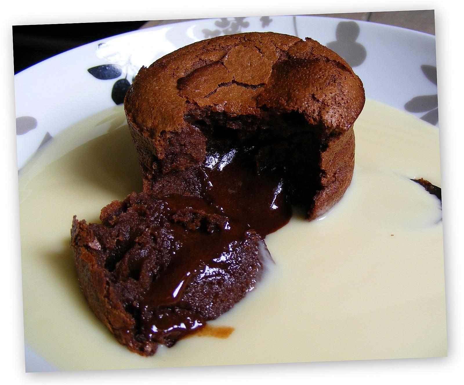 Recette ultra rapide des petits fondants au chocolat